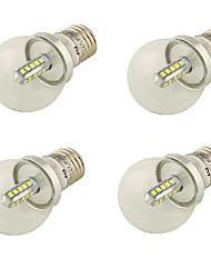 4W E26/E27 Круглые LED лампы A60(A19) 20 SMD 2835 360 lm Холодный белый Декоративная AC 85-265 / AC 220-240 / AC 100-240 / AC 110-130 V4