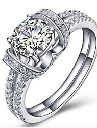 Promise Ring 1CT Double Lines Paved Marriage Jewerly Ring for Women Sterling Silver SONA Diamond Micro Paved Semi Mount