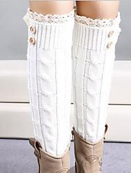 Women Warm Stockings,Acrylic / Lace