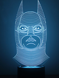 Amazing 3D Lllusion Led Table Lamp Night Light with Batman Shape Color-Changing Night Light