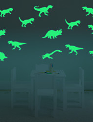 9Pcs/Pack Glow In The Dark Fluorescent Decal Baby Kids Children Room Home Wall Luminous Decoration Dinosaur Stickers