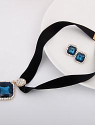 Schmuck Halsketten Ohrringe Halskette / Ohrringe Hochzeit Party Alltag Normal 1 Set Damen Lila Hochzeitsgeschenke