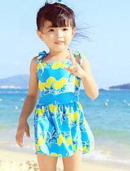 Baby Beach Print Dress,Nylon Summer Blue