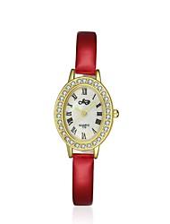 jewelora Mulheres Relógio de Moda Quartzo Resistente ao Choque Couro Banda Vintage Rose Rosa