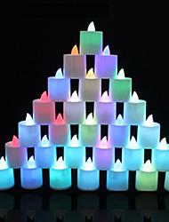 1pc coloré couleur aléatoire site pub créatif terrain lampe conduit nuit lumière LED bougie électronique