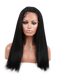 EVAWIGS New Style Brazilian Human Virgin Hair Kinky Straight Lace Front Wig for Fashion Women