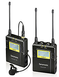 Saramonic UwMic9 96-Channel UHF Wireless Lavalier Microphone System for Canon Nikon Pentax Sony DSLR & Camcorders Video
