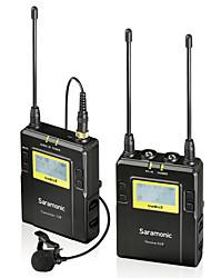 uwmic9 sistema sem fio UHF microfone de lapela de 96 canais saramonic para canon nikon pentax SONY DSLR& vídeo camcorders