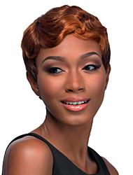 1b / pelucas cosplay marrón de color calientan la peluca cosplay del partido resistente sintética mayorista a corto y rizado