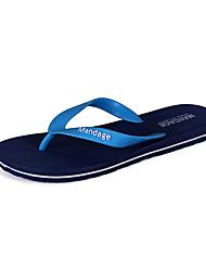 chaussures en caoutchouc plein air bascules extérieur eau chaussures hommes plats autres talon noir / bleu / marron