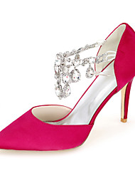 Women's Shoes Silk Stiletto Heel Pointed Toe Pumps/Heels Wedding/Party & Evening More Colors available