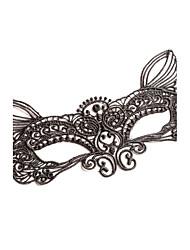 máscara preta do laço / branco para o animal de partido forma fox