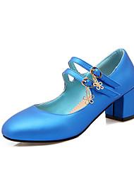 Damen-High Heels-Büro / Kleid / Lässig-maßgeschneiderte Werkstoffe / Kunstleder-Blockabsatz-Absätze / Pumps / Quadratische Zehe-Schwarz /