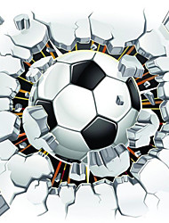 JAMMORY Art Deco Wallpaper Contemporary Wall Covering Canvas Material Adhesive Required Mural Room Wallcovering Football
