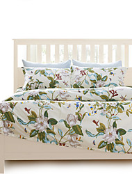 Full Cotton 4PC Duvet Cover Sets Floral Pattern Super Soft