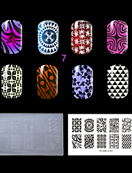 1PC Plastic Clear White Environmental  Nail Stamping Plate with Fashion Pattern. (KD-SM612-007)