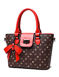 Women PU Formal / Casual / Office & Career / Shopping Tote Multi-color