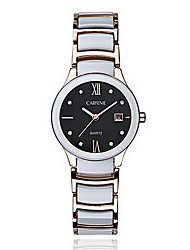 Women's Fashion Watch Casual Watch Quartz Japanese Quartz Stainless Steel Band White