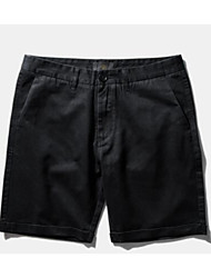 Men's Solid Casual Shorts,Acrylic Black / Green / White / Yellow