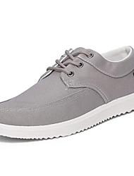 Herren-Flache Schuhe-Sportlich-Leinwand-Flacher Absatz-Komfort-Blau Grau