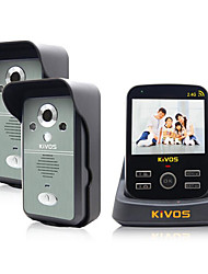 KiVOS® Wireless Doorbell Household Plug Electric Bell Two Drag A Video Intercom Camera Lock