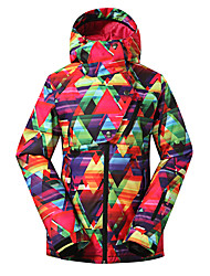 Gsou snow women ski jackets/ snowboard/double snowboard jackets/windproof waterproof female ski-wear