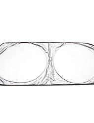 Frontscheibe mit Silber beschichtete Gewebe Doppelkreis Visier Schirm 150 * 70cm