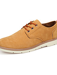 Men's Shoes Suede Work & Duty / Casual Oxfords Work & Duty / Casual Walking Low Heel Lace-up Blue / Brown