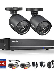 SANNCE® 4CH Full 960H CCTV DVR with 800TVL Night Vision Weatherproof Cameras System