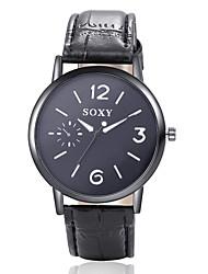 de moda em couro de quartzo relógios de pulso analógico Relógio dos homens estilo casual business relogio masculino legal assistir relógio