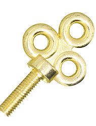 Tattoo Machine Grip Golden Vintage Key Shape Screw 1 Piece