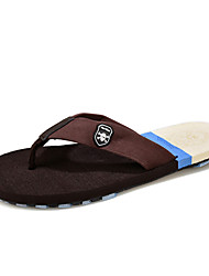 Men's Slippers & Flip-Flops Summer Slippers Latex Casual Flat Heel Others Black Brown Yellow Walking