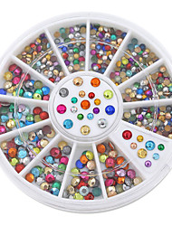 2mm 3mm Metallic Studs Rivet Flat Back Facet Rhinestones Wheels 3D Nail Art Decorations