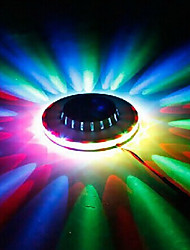 1pc llevó la iluminación KTV mini platillo volante luz de la noche de láser