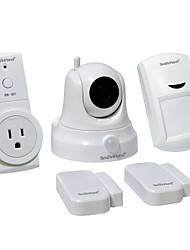 SmaInHand Home securuty system kit 5 Pack(1 WiFi Camera + 1 Wifi Socket +1 Motion Sensor +2 Door/Window Sensor)