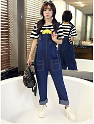 Mutterschaft Hose - Jeans Einfach Polyester Unelastisch