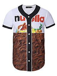short sleeve cardigan 3 d baseball uniform movement of man