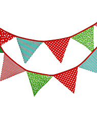 3.2m 12 Flags Colorful Banner Pennant Cotton Bunting Banner Booth Props Photobooth Birthday Wedding Party Decoration