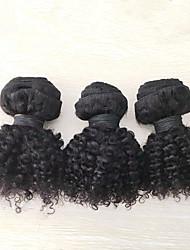 "3pcs/lot 8""-20"" Mongolian Kinky Curly Human Hair Extension Afro Kinky Curly Human Hair Weaves"