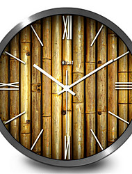 Creative Garden Bamboo Living Room Wall Clock Home Furnishing Creative Quartz Wall Clock