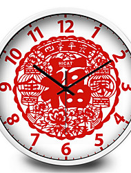 "The Classic ""Paper-Cut Decoration Home Furnishing Mute Quartz Wall Clock"