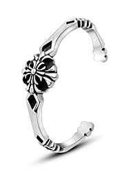 Ttitanium Steel Antique Silver Cuff Bangle
