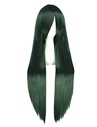 Cosplay Wigs Kagerou Project Mio Akiyama Green Long Anime Cosplay Wigs 100 CM Heat Resistant Fiber Male / Female