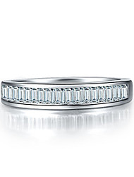 Solid 925 Silver Ring for Women Ladder Side SONA Diamond Wedding Band for Engagement Ring Platinum Plated Pt950 Stamped