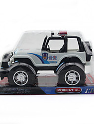 Inertial police SUV model toy car