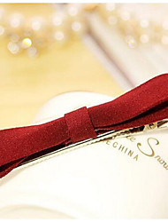 Women's Hair Accessories Simple Cloth Bow Hairpin Side Folder