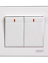 Krst 86 Tipo de interruptor interruptor de plástico ignífugo pared oculta bivalente de control dual dos interruptor de control doble,