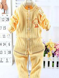 Baby Casual/Daily Solid Clothing Set-Cotton-Winter / Fall-Blue / Gold / Beige