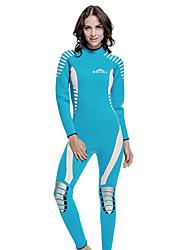 SBART Femme / Homme Combinaisons Tenue de plongée Compression Costumes humides 1.5 à 1.9 mm Noir / Bleu S / M / L / XL Plongée