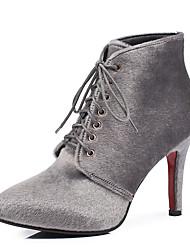 Черный / Красный / Серый-Женская обувь-Для офиса / Для праздника / Для вечеринки / ужина-Материал на заказ клиента / Конский волос-На